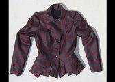 Veste à plis et basques en laine mélangée