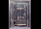 (5) - Collage, 100 x 130 cm, papiers, fibre de verre, encre, plomb sur bois