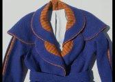 Manteau à double col en laine