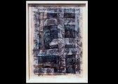 (3) - Collage, 70 x 120 cm, papiers, bandes textiles, encre sur bois
