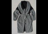 Manteau en pure laine à ample col plié