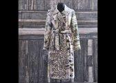 Manteau en soies assemblées