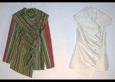 Vestes à plis en laine et en coton