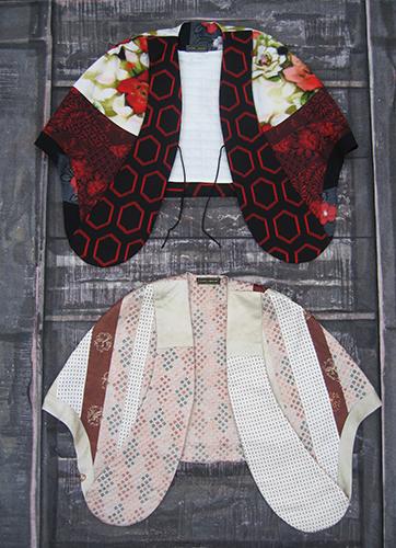Capes en laine et soie japonaises