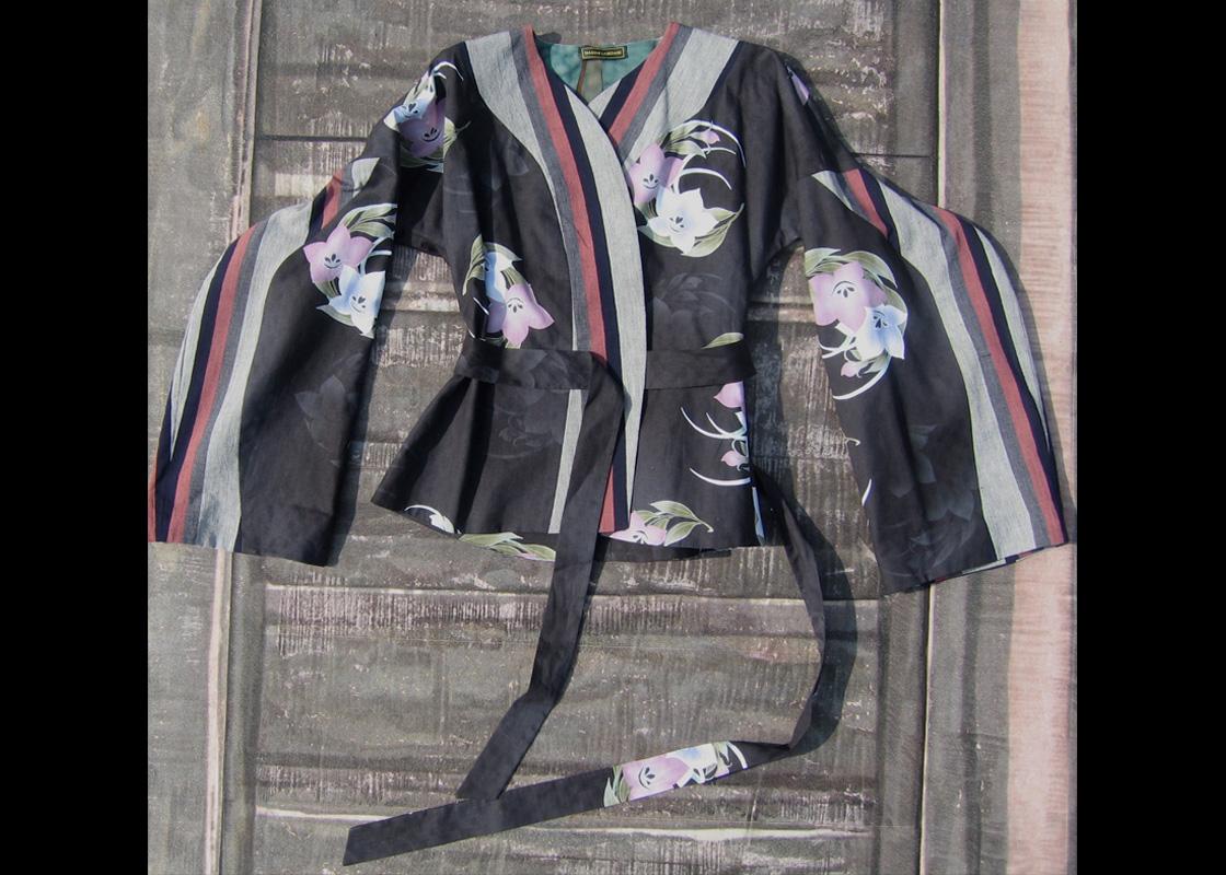 Veste en coton à manches coudées exagérées