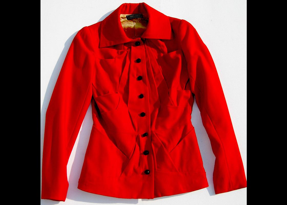 Veste en laine à plis